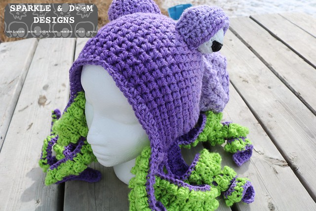 53fe1d9cbf3 HAT Octopus Hat Purple lime a