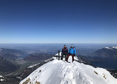 Robert and Walti at the summit
