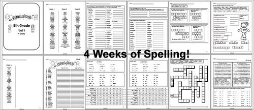 5th Grade Spelling - Unit 1   by CHSH-Teach