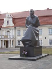 Kaunas, Statue of Maironis in front of the Maironio lietuvių literatūros muziejus