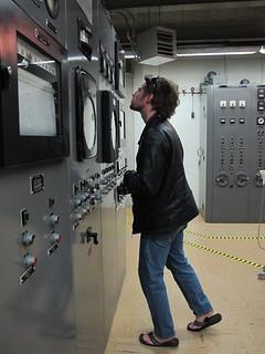 EBR-1: Matt checks out the controls   by mormolyke