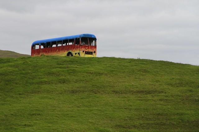 Old bus, Ruapuke, Waikato, New Zealand