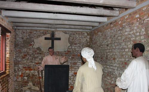 Inside of an Original Slave Cabin   by Rennett Stowe