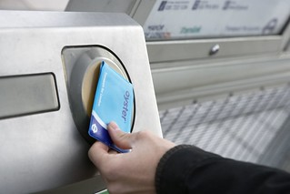 Oyster card being used at a station | by Transport for London Press Images