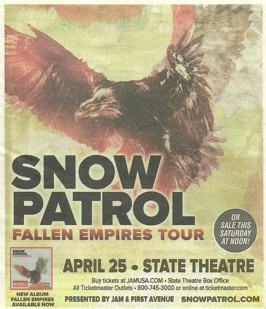 04-25-12 Snow Patrol @ State Theatre, Minneapolis, MN | Flickr