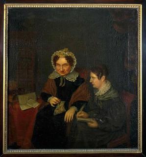 Portret van Petronella Moens (1762-1843) en Antonia Elisabeth Camphuis (1807/1808-1842). Margaretha Cornelia Boellaard. Coll. Centraal Museum
