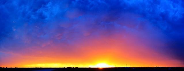 071812 - Incredible Nebraska Thunderset.... (Pano)