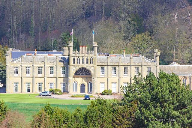 Donington Hall from Donington Park, April 2012