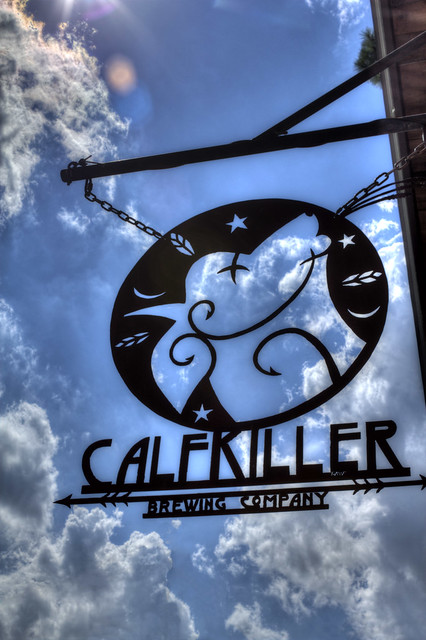 Calfkiller Brewery sign, White Co, TN