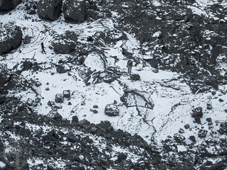 Frozen lava pool