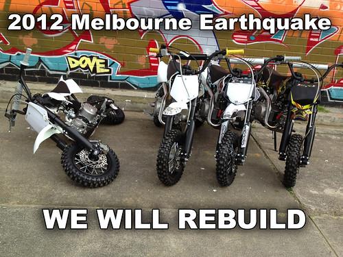 Melbourne Earthquake 2012   braaap Motorcycles   Flickr