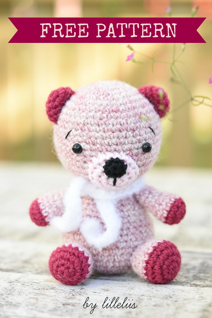 Amigurumi Crochet Teddy Bear Free Pattern with Video - Amigurumi Crochet  Teddy Bear Toys Free Patterns • DIY How To | 1024x683