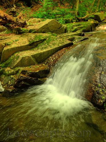 hdr waterfall river water fall green leaves rocks motionblur nikond700 d700 nikon 2485 mm f284d lawsonpix billlawson
