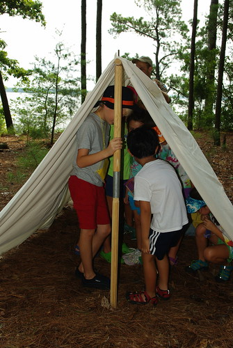 Nature Explorers in a tent | by vastateparksstaff