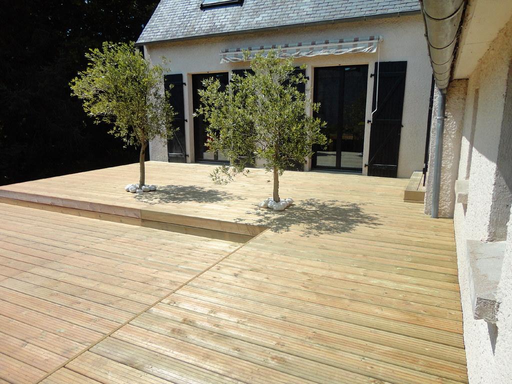 Terrasse En Bois Et Jardin kerbrat jardins - terrasse bois surélevée à niveaux l02 | flickr