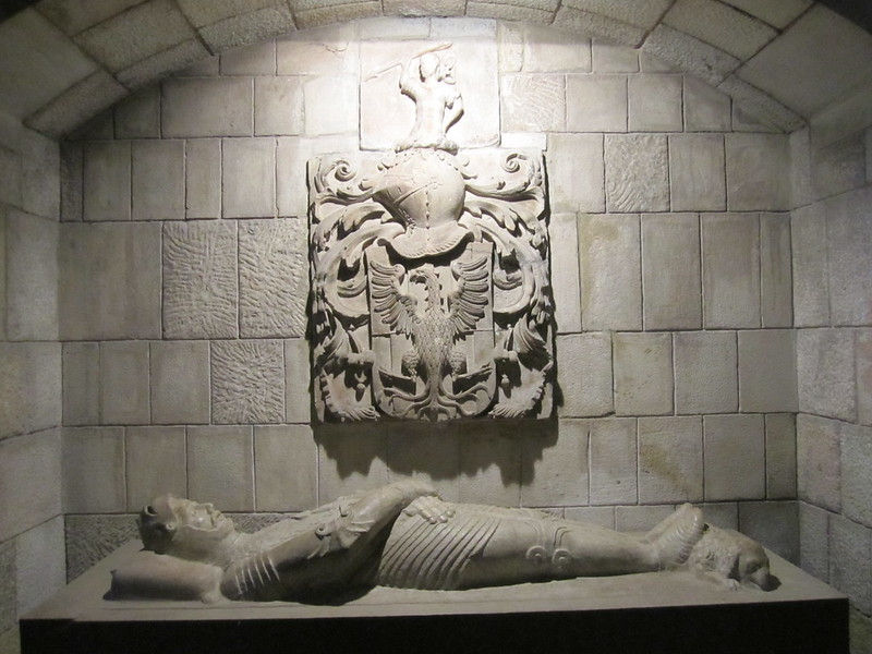 Knight Templar's tomb, Santa Anna church, Barcelona, Spain