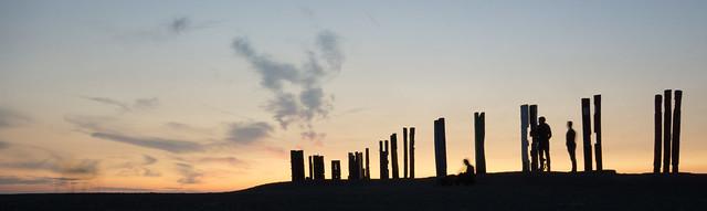 Halde Haniel im Sonnenuntergang