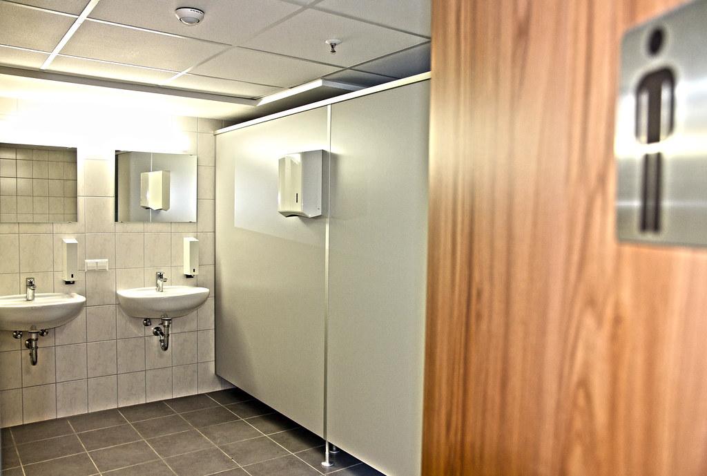 Renovations at Kleber Kaserne | Completed men's bathroom ...