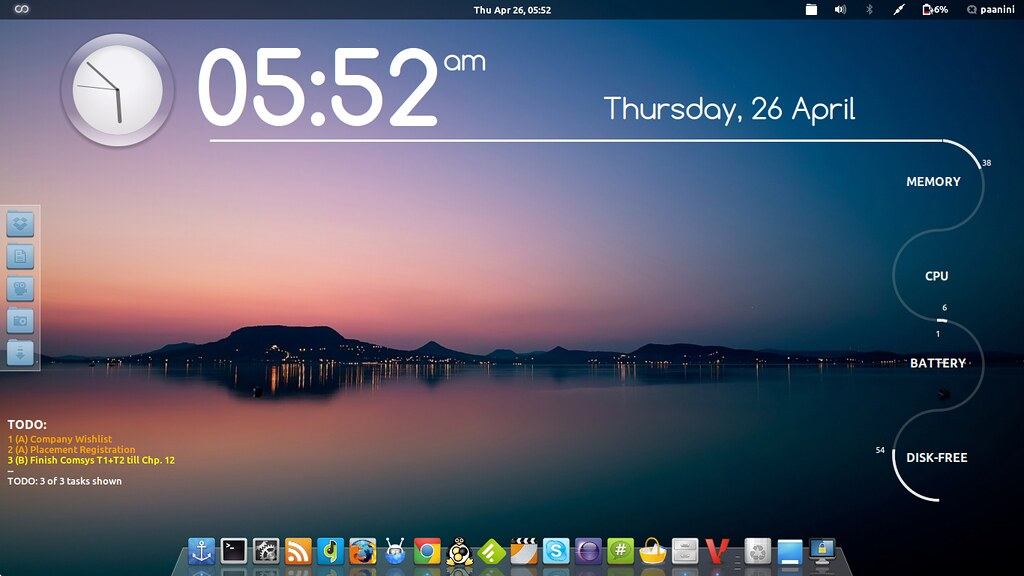 My Arch Linux setup with Gnome-Shell | I've used two instanc