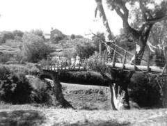 Deadmans pass bridge c1955 with 1 Coombe Street showing.