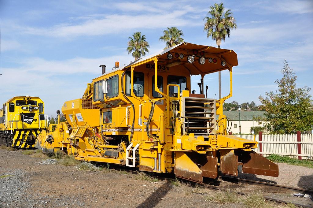ARTC's ballast regulator track machine BX-031 by John Cowper