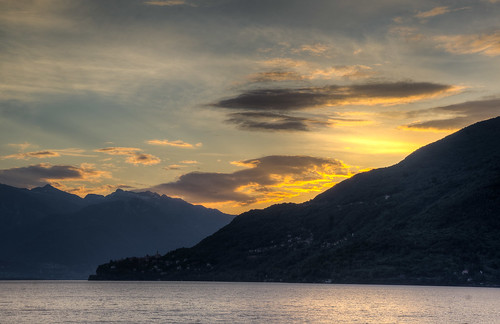 italy sunrise landscape piedmont hdr cannobio paesaggimontani