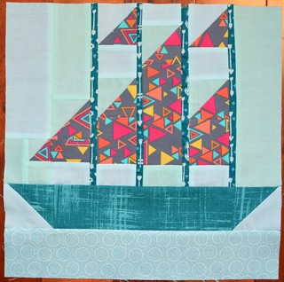 Set Sail Block - Modern Blocks Bee for Lizz | by shecanquilt