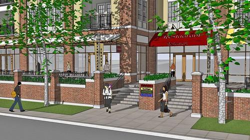 Rendering of Restaurant Entrance | by The Promenade at Wyomissing Square