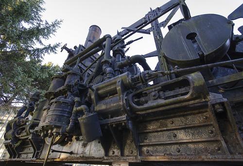 california ca old usa vintage forestry antique logging equipment abandon steamengine eureka forthumboldtstatepark