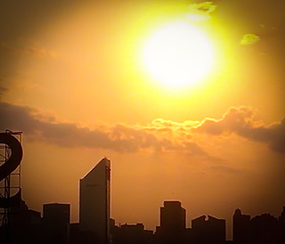 Sweltering Summer Sunset - Cell Phone Shot from Queensborough Plaza NYC | by ChrisGoldNY