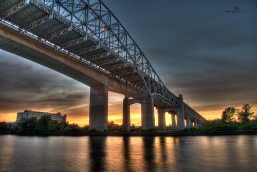 bridge sunset hamilton