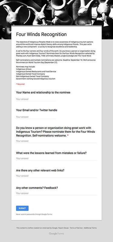 Four Winds Recognition (Google Docs)