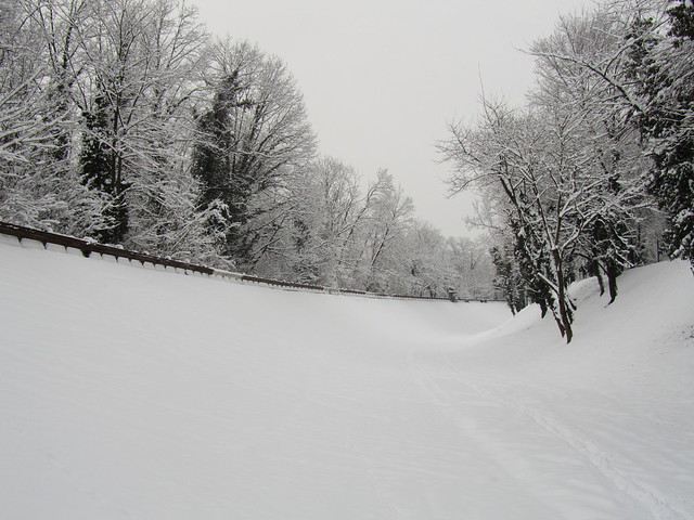Monza circuit - Old banking in winter