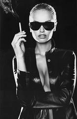 Adriana Sklenarikova Shades and Smoking