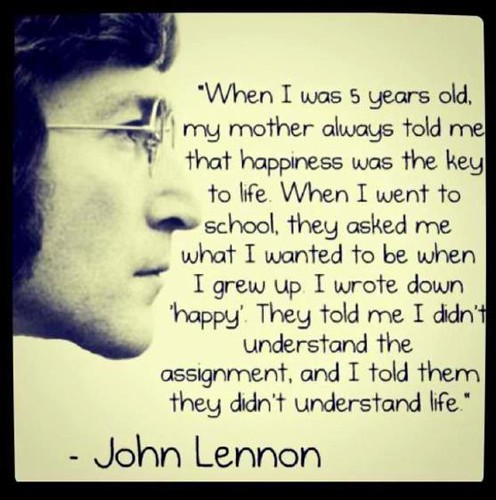 John Lennon - Happy quote | by My Hourglass