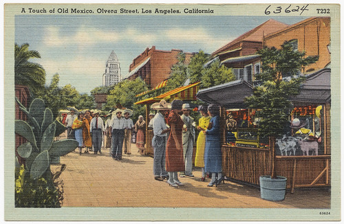 A touch of Old Mexico, Olvera Street, Los Angeles, California | by Boston Public Library