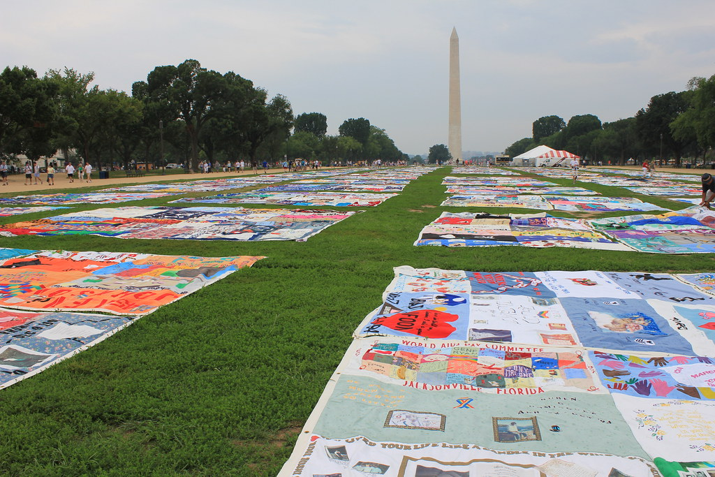The 2012 AIDS Memorial Quilt on Display at the National Mall, Washington, D.C.