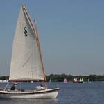 The latest Zijlsloep, full white hull with teak floor, light grey cushions (and covers), 2.0 KW POD engine.