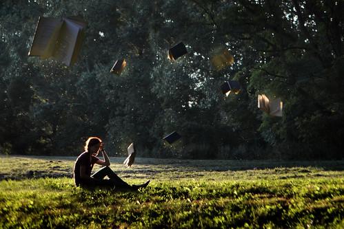travel sunset silhouette reading book magic flight levitation books literature read goldenhour pixiedust booked pricepark digitalclr