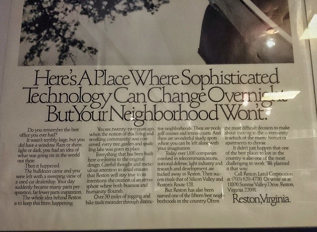 In 1984, Reston promised new residents that nothing would ever change. Oops.