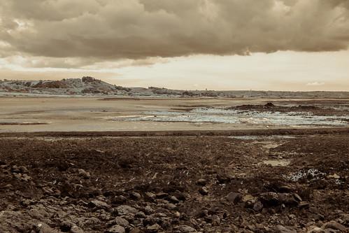 jersey channelislands olympusepl5 seaweed landscape infrared europa infrarot himmel lowtide sky seascape hills europe wolken clouds sthelier je