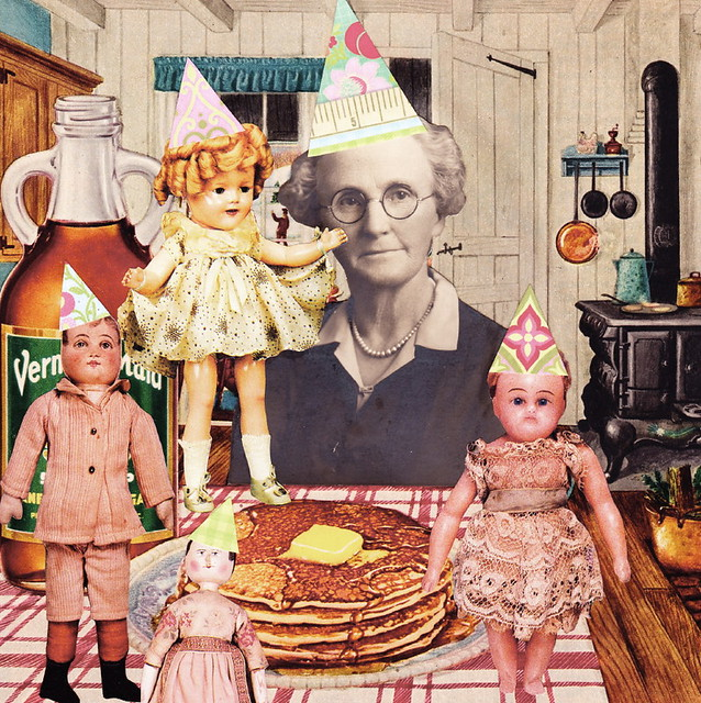 The Old Spinster Celebrated Mother's Day with Her Children by Making Them Pancakes