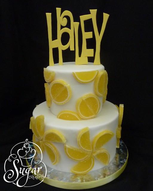 lemon slice birthday cake