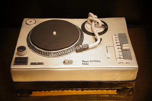 Brilliant Turntable Birthday Cake A Replica Of A Turntable For A For Flickr Birthday Cards Printable Benkemecafe Filternl