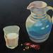 'A glass of milk', Oil on board, 33x25cm