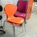 Orange chrome four legged chair €35