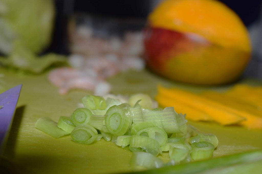 Ingredients for a quick dinner - mango and prawn salad.jpg