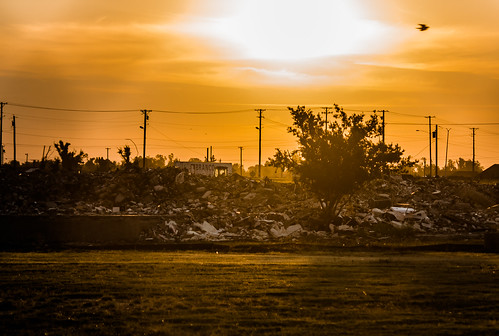 tree sunrise rubble joplin jhs joplinmissouri joplinhighschool