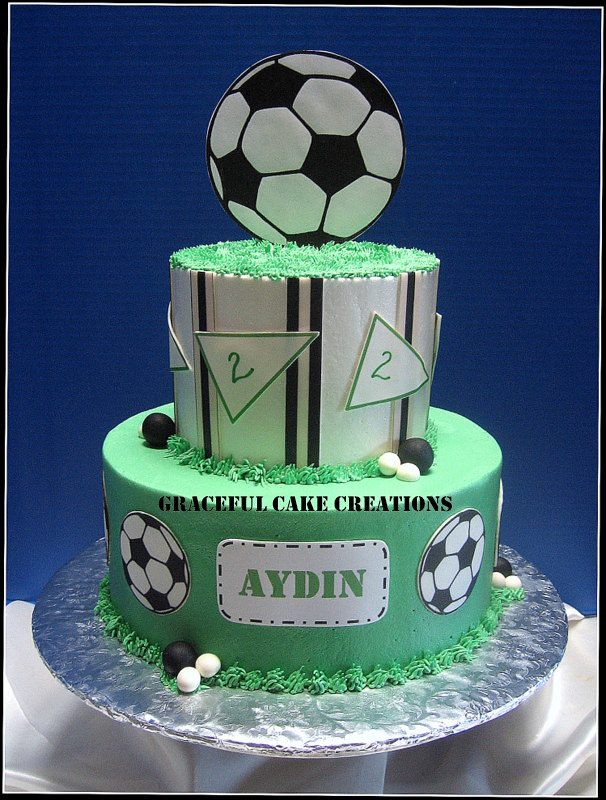 Incredible Soccer Ball Birthday Cake Grace Tari Flickr Personalised Birthday Cards Paralily Jamesorg
