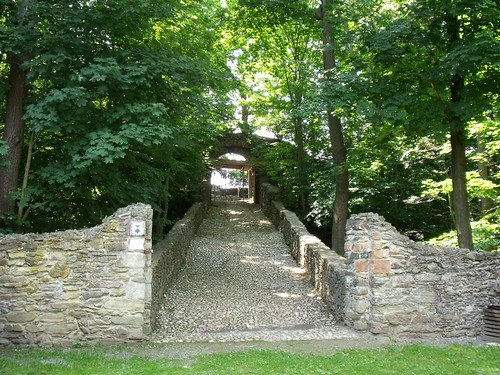 Entrance of castle ruin Reichenfels / Ruine Reichenfels, Hohenleuben, Thuringia, Germany | by Caledoniafan